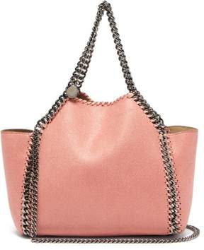 Stella McCartney Falabella Mini Faux Suede Reversible Tote Bag - Womens - Light Pink