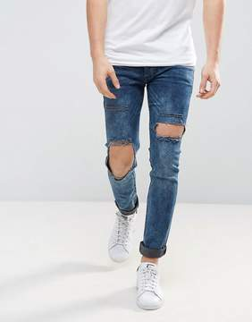 Religion Jeans in Super Skinny Stretch Fit with Open Hole Knee