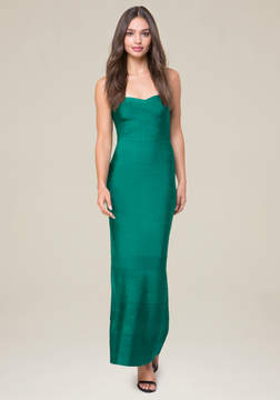 Bebe Strapless Bandage Gown
