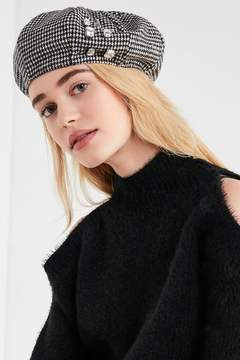 Urban Outfitters Embellished Houndstooth Beret