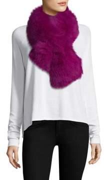 Adrienne Landau Fox Fur Pull-Through Scarf