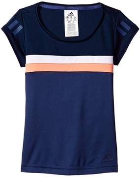 adidas Kids Club Tee Girl's Short Sleeve Pullover