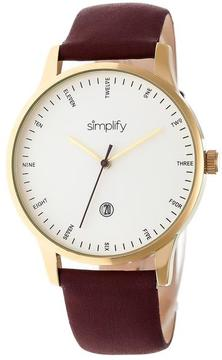 Simplify The 4300 Collection SIM4306 Gold Stainless Steel Analog Watch