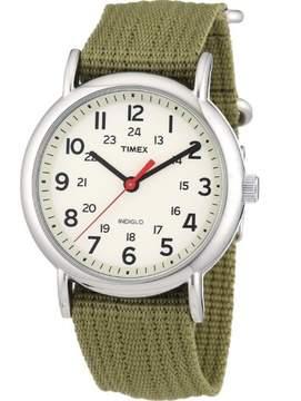 Timex T2N651 Weekender Unisex Watch Olive Green 38mm Stainless Steel