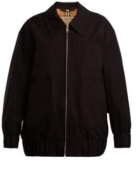 Burberry Barnhall cotton-gabardine Harrington jacket