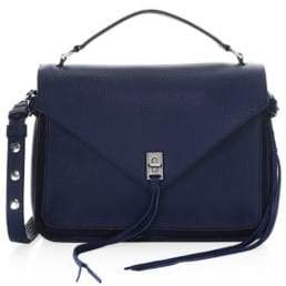 Rebecca Minkoff Derren Leather Messenger Bag - TRUE NAVY - STYLE