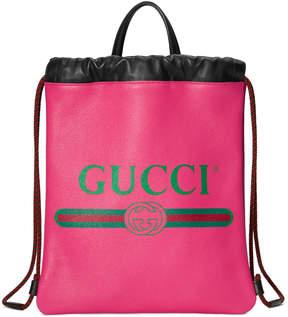 Gucci Print small drawstring backpack
