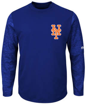 Majestic Men's New York Mets Ac On-Field Tech Fleece Pullover