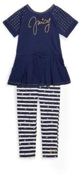 Juicy Couture Little Girl's Studded Logo Tunic & Leggings Two-Piece Set