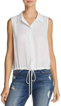 Bella Dahl Tie-Hem Button-Down Top
