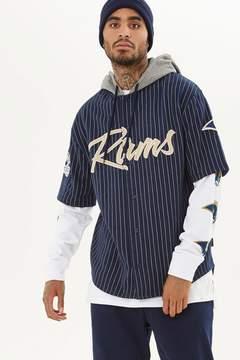 21men 21 MEN NFL Rams Hooded Fleece Shirt