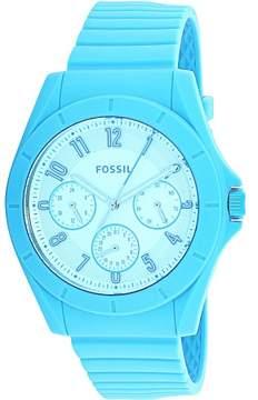Fossil Men's Poptastic FS5287 Blue Rubber Japanese Quartz Dress Watch