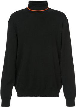 Christian Dior contrast detail roll neck jumper