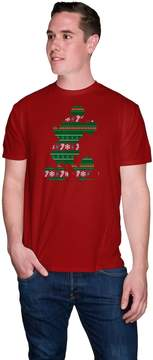 Disney Big & Tall Disney's Mickey Mouse Silhouette Holiday Tee