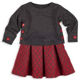 Florence Eiseman Toddler's & Little Girl's Two-Piece Popover Top & Pleated Skirt Set