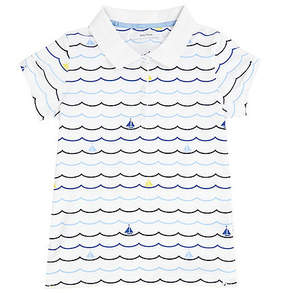 Nautica Little Girls' Sailboat Wave Polo Shirt (2T-7)