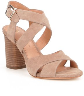 Antonio Melani Pellham Criss-Cross Suede Block Heel Sandals