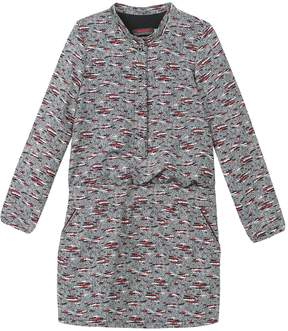 Catimini Stand Collar Printed Dress