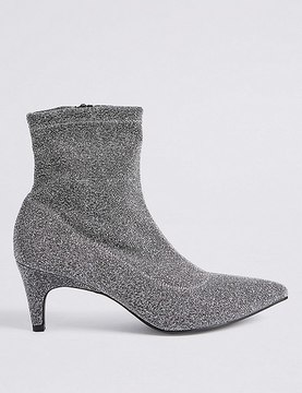 Marks and Spencer Kitten Heel Side Zip Ankle Boots