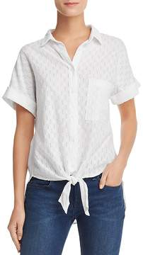 Bella Dahl Eyelet-Stripe Shirt