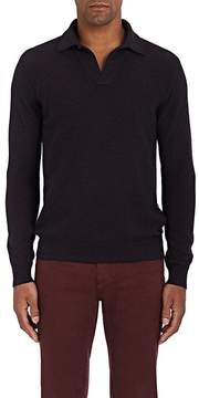 Loro Piana Men's Mélange Cashmere Polo Sweater