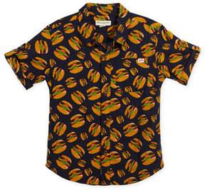Appaman Short-Sleeve Button-Down Burger Shirt, Size 2-10