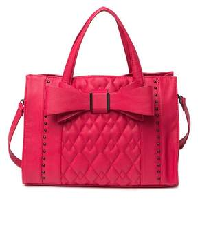 Betsey Johnson Quilted Bow Satchel