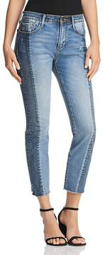 Aqua Cropped Two-Tone Jeans in Double Indigo - 100% Exclusive