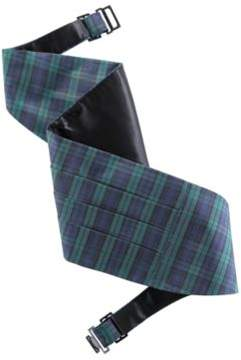 Ralph Lauren Black Watch Cummerbund Black Tartan S/M