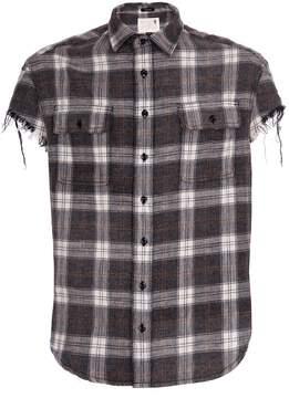 R 13 Oversized Cut-off Shirt
