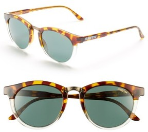 Smith Women's 'Questa' 49Mm Cat Eye Sunglasses - Amber Tortoise/ Green