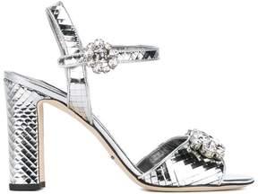 Dolce & Gabbana mirrored embellished sandals