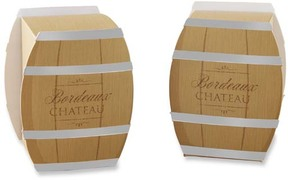 Wine Barrel Favor Box - Set of 24