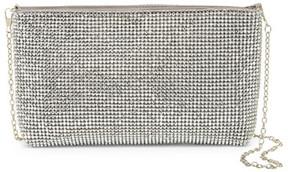 Natasha Accessories Silver Metallic Soft Clutch