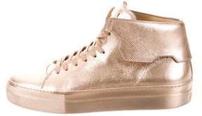 Buscemi Metallic Leather Sneakers