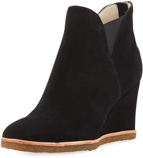 Bettye Muller Whiz Wedge High Ankle Bootie, Black