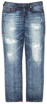 True Religion Boys' Geno Straight-Leg Distressed Jeans - Little Kid