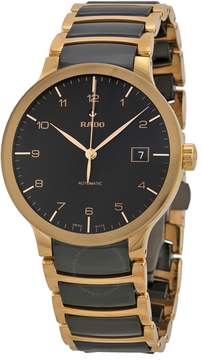Rado Centrix Automatic Rose Gold and Black Ceramic Men's Watch