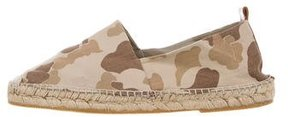 Ralph Lauren Collection Camouflage Leather-Trimmed Espadrilles