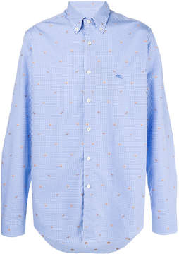 Etro crab embroidered shirt