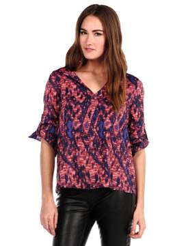 Collective Concepts Blurred Lines Print Top.