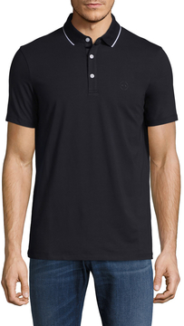 Armani Exchange Men's Solid Cotton Polo Shirt