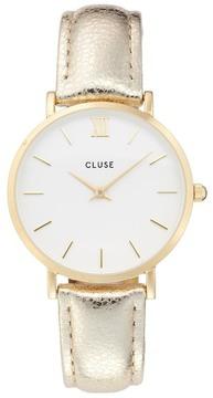 Cluse Minuit Metallic Watch, 33mm