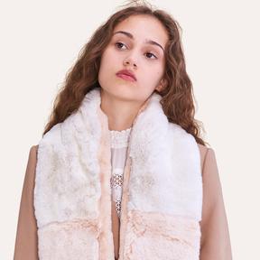 Maje Two-tone faux fur scarf