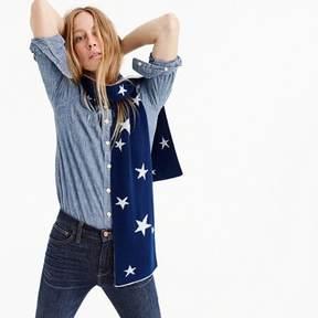 J.Crew Everyday cashmere scarf in kaleidescope star print