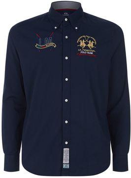 La Martina Embroidered Crest Cotton Shirt