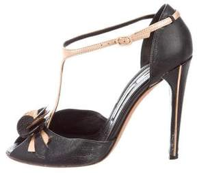 Nina Ricci Leather Bicolor Sandals