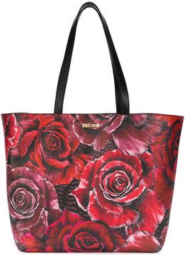 Just Cavalli rose print tote