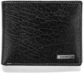 Steve Madden Buff Crunch Leather Passcase Wallet.