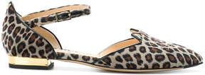 Charlotte Olympia Leopard print Kitty flats